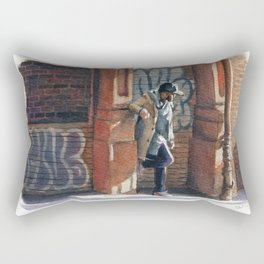 Stylish Man in Soho Rectangular Pillow