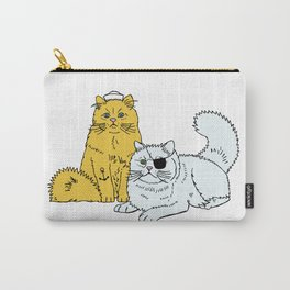 Navy Cats Carry-All Pouch