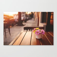 Flowers in the street Canvas Print