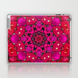 Garden mosaic kaleidoscope mandala - hot pinks Laptop & iPad Skin