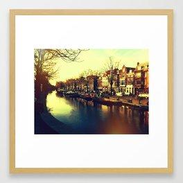 Canals in Den Haag Framed Art Print