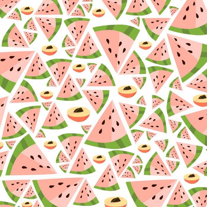 watermelon/peach love Duvet Cover