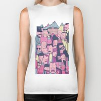 budapest hotel Biker Tanks featuring Grand Hotel by Ale Giorgini
