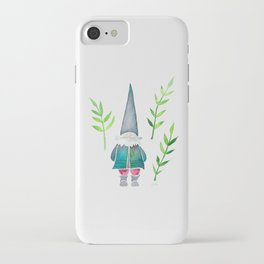 Summer Gnome - Green Leaves iPhone Case