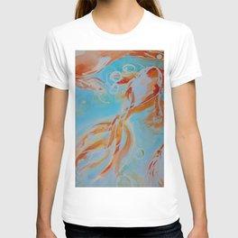 GoldFish Bubbles 1ne watercolor by CheyAnne Sexton T-shirt