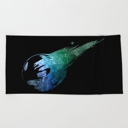 Final Fantasy VII logo universe Beach Towel