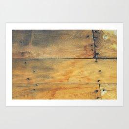 Wood Planks Shipboard Art Print
