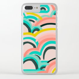 mostly cloudy Clear iPhone Case
