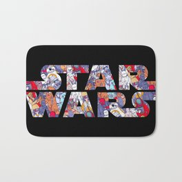 Space Toons in Color Bath Mat