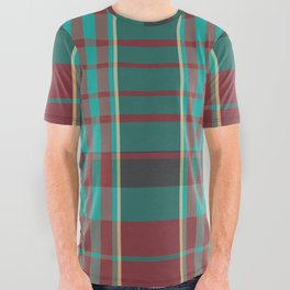 The Season Plaids  All Over Graphic Tee