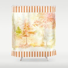 Memories of Autumn Shower Curtain