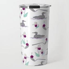 Loons and Ladyslippers Travel Mug