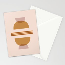 Amber Abstract Half Moon 2 Stationery Cards