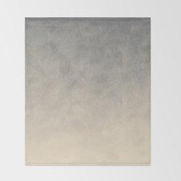Gradient textured background blue gray beige tones Throw Blanket