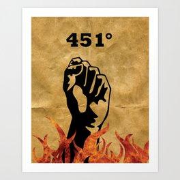 Fahrenheit 451 - Ray Bradbury Art Print
