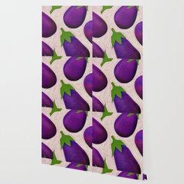 Eggplant Fun Wallpaper