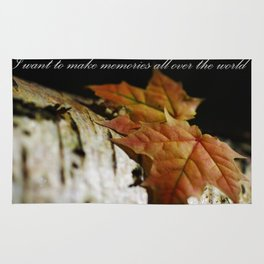 I want to make memories all over the world Rug