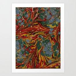 Melting Marbled Paper Art Print
