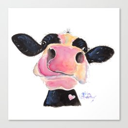 Nosey Cow ' JAMMIE JESSIE ' by Shirley MacArthur Canvas Print