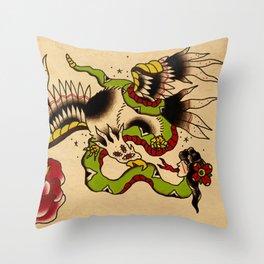 Batalla de la cuaima Throw Pillow