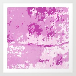 Fuchsia Pink and Bright White Abstract Digital Artwork Art Print