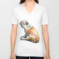 jack daniels V-neck T-shirts featuring Jack by GiGiBunni