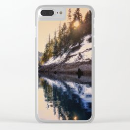 Reflections of a Dream Lake McCloud California Clear iPhone Case