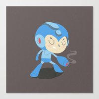 mega man Canvas Prints featuring Mega Man by Rod Perich