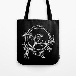 White Ouroborous  Tote Bag