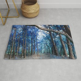 Pathway to Bliss Blue Turquoise Rug