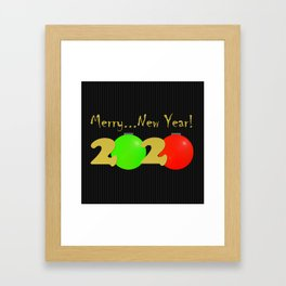 Merry...New Year! Framed Art Print