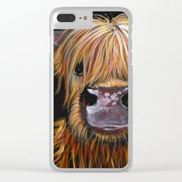 Scottish Highland Cow ' HENRY ' by Shirley MacArthur Clear iPhone Case