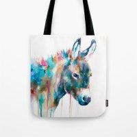 donkey Tote Bags featuring Donkey by Slaveika Aladjova