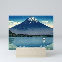 Tsuchiya Koitsu - Mount Fuji and Shoji Lake - Japanese Vintage Woodblock Ukiyo-E Mini Art Print