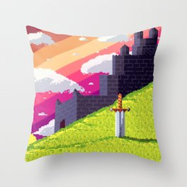 Peace sword Throw Pillow