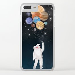 balloon universe Clear iPhone Case
