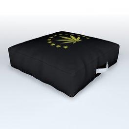 Cannabis leaf | Smoke Weed Pot Marijuana Gift Idea Outdoor Floor Cushion