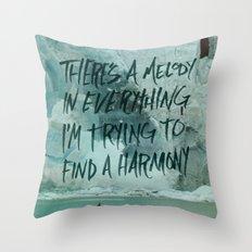 HARDER HARMONIES Throw Pillow
