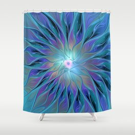 Decorative Flower Fractal Shower Curtain