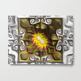 Gnarly Sunflower Metal Print