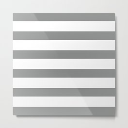 Grey & White Stripes | Digital Design Metal Print