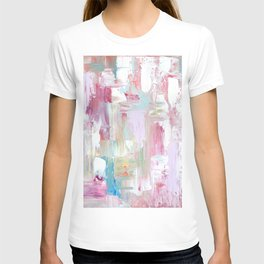 Pink Abstract Painting T-shirt