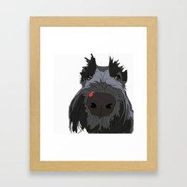 Ladybug Scottie Framed Art Print