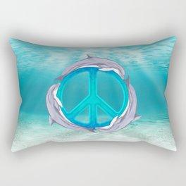 Dolphin Peace Rectangular Pillow