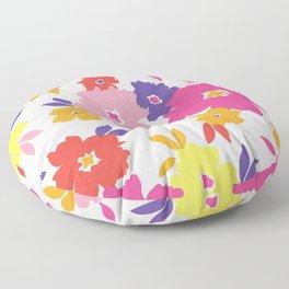 Large Colorful Florals Floor Pillow