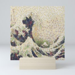 The Great Wave Of Honeydew Melon After Hokusai Mini Art Print