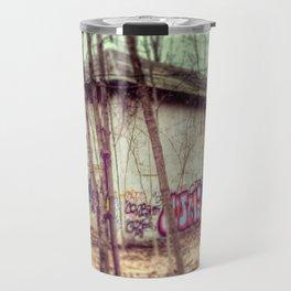 graffiti in the woods Travel Mug