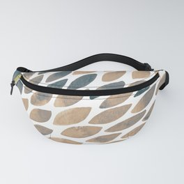 Watercolor brush strokes - neutral palette Fanny Pack