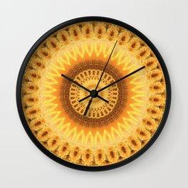 Embers Mandala Wall Clock