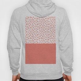 Triangles Coral Red Hoody